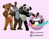 Company Logo (tsundet) Tags: teddybear panda rabbit costume teddybjørn bamse logo easterbunny mascot maskot mascotte påskehare bearcostume pandasuit pandacostume