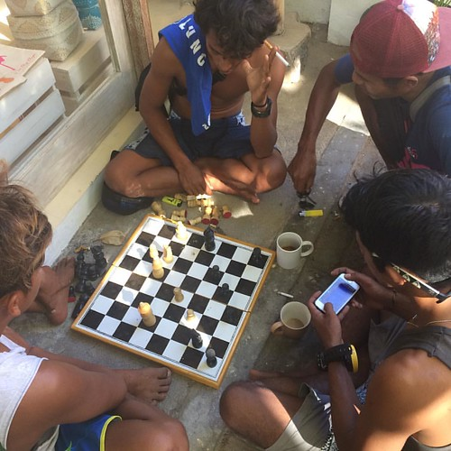 Chess tournament starts today at Oceans 5 Gili Air #chess #tournament #oceans5dive #giliair #indonesia #scuba #games #instadaily #instagood #instagram #like4follow #like4like