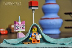 Welcome to December! :D Here comes the cold too! (parik.v9906) Tags: room lamp year month project days 365 365days 365project thelegomovie dof pot plane kitty car d90 nikon blanket warm huddle fun minifigs minifig cold christmas december legos lego