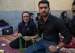 Iranian family who gives for free some prayer beads to mourners to see their wish happen, Isfahan province, Isfahan, Iran (Eric Lafforgue) Tags: adultsonly ashura beads carpet ceremony chador children colorimage commemoration culture esfahan groupofpeople hispahan horizontal hussain imamhussein iran isfahan islam ispahan lookingatcamera memorialevent men middleeast mourning muharram muslim muslims nazri outdoors people persia photography religion religious sepahan shia shiism shiite veil veiled woman women isfahanprovince ir