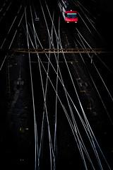 Confusion (tom.leuzi) Tags: 50mm bahnhof bern berne canoneos6d eisenbahn fahrleitung geleise lokomotive sigma50mmf14dghsmart schiene sigmaart zug contactwire f14 gare line locomotive rail railway track train trainstation red rot hss sliderssunday