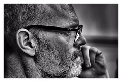 The perfect intellect ! (CJS*64) Tags: concentrate concentration portrait selfi spectacles blackwhite bw blackandwhite whiteblack whiteandblack mono monochrome people person nikon nikkorlens nikkor nikond7000 50mmf18lens 50mmnikkorlens 50mmlens watching watch study intellect intellectual
