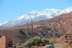 Scenes from Berber villages framed by Atlas mountains (John Englart (Takver)) Tags: morocco berber village atlasmountains mountains snow