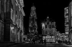Stadhuisbrug, Utrecht (ed mather) Tags: stadhuisbrug utrecht domkerk domtoren church cathedral kathedraal blackandwhite zwartwit