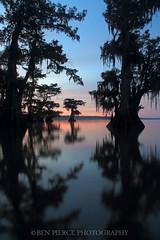 First Light on Lake Fausse Pointe (Ben Pierce Photography) Tags: south la ancient lakefaussepointe silhouette reflection atchafalayabasin sunrise cypress louisiana swamp atchafalaya