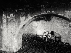 Gone (fabioscrima) Tags: black white scenic composition serenity tranquillity inspiration conceit blackwhite chair