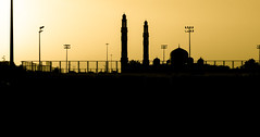 Evening Light (relishedmonkey) Tags: nikon d5300 evening outline design abu dhabi uae outisde mosque lines 35mm 18g straight sky yellow outdoor sunlight sun