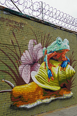 Welling Court Mural Project - Astoria, Queens, NYC (SomePhotosTakenByMe) Tags: frog frosch schnecke snail animal tier wall mauer usa urlaub vacation holiday nyc newyork newyorkcity america amerika queens astoria mural wandbild kunst art graffiti wellingcourt wellingcourtmuralproject muralproject outdoor terrarium mrpvrt