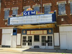 The Gem in Cairo (4 of 4) (jimsawthat) Tags: architecture abandoned decay downtown cairo illinois smalltown metalsign marquee neon vintagesign movies movietheater vintagetheater
