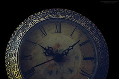 the time is... (NadzNidzPhotography) Tags: nadznidzphotography macromondays arrow time clockhands blackbackground black watch