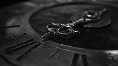 The good old times. (HMM) (frankvanroon) Tags: arrow macromondays antique clock bw blackandwhite macro hmm time timepiece nikon d7000 lifetime