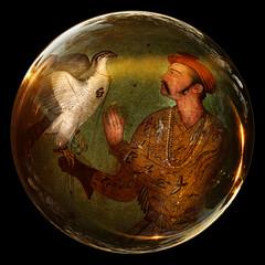 A mogul Prince and his falcon (mistissimo) Tags: mogul falcon falconry glass sphere