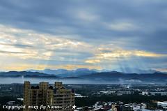 Morning Sun Rays .. ( Nana) Tags: light sky cloud sun love nature beautiful clouds sunrise nikon taiwan rays    taiwan i  d7000