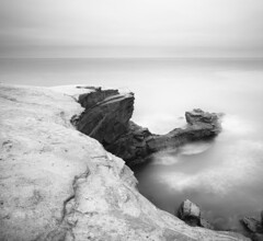 san diego: ocean beach -- sunset cliffs park (William Dunigan) Tags: ocean park sunset sea white seascape motion black blur beach nature landscape photography coast seaside nikon san long exposure boulevard 10 diego william cliffs stop coastal filter nd ten region d90 dunigan