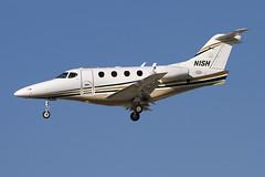 N1SH (buzz100ca) Tags: california private airplane 1 flying airport san general aircraft aviation jose jet landing international airline sjc premiere 300 arrival raytheon ksjc n1sh