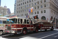 SFFD Truck 13 on the Street (adelaidefire) Tags: fire san francisco sffd department spartan fd lti