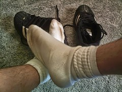 Finally relaxin' with both shoes off! (halfpint34) Tags: gay white feet boys socks fetish point sock worship view pov dirty smell mens rank smelly stinky