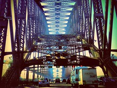 Sydney Harbour Bridge (Explore) (missgeok) Tags: lighting travel bridge art cars colors beautiful closeup architecture composition spectacular design big amazing interesting artwork mood pattern colours crossing angle artistic pov vibrant steel awesome details famous transport perspective sydney creative australian engineering atmosphere australia grand streetscene icon structure architectural explore creation massive stunning huge strong colourful framing framework popular striking touristattraction sydneyharbour attraction sydneyharbourbridge archbridge lightshadows famousicon worldfamous thecoathanger aussieicon colourtones angleofview nikond90