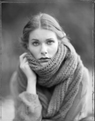 Alex (Braca Nadezdic) Tags: portrait portraits polaroid polaroid55 4x5 largeformat analog aeroektar graflex speedgraphic blackandwhite bw