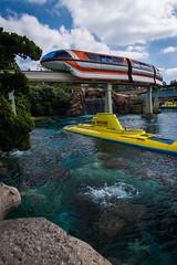Mermaid Lagoon (ElizabethNDP) Tags: nikon disneyland disney submarine monorail tomorrowland disneyparks d5200 tokina1116f28 monorailmonday