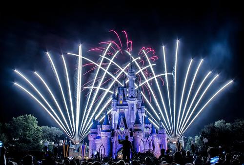 Cinderella's Castle Fireworks 8