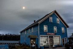 Old Store (Doguu) Tags: old blue winter sunset lake snow canada cold ice water night sunrise silver dark store rocks harbour freezing superior shore lakesuperior islet thunderbay northernontario sibley silverharbour