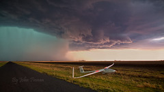 Dump and Run ........ (John Finnan) Tags: storm australia queensland glider darlingdowns johnfinnan bongeen supercellstorm johnfinnanphotography