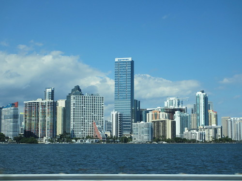 Skyline from Rickenbacker Causeway, Miami, Florida