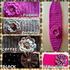 Crochet headbands or earwarmers (ExoticDesigns) Tags: crochet sparkle earwarmers flickrandroidapp:filter=none
