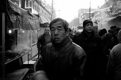 (SinoLaZZeR) Tags: life china street winter people blackandwhite bw snow heilongjiang river blackwhite asia fuji district streetphotography photojournalism documentary str