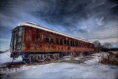 Rust on Rails (Sunset Dogs) Tags: railroad train rust traintracks