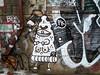 PK (Georgie_grrl) Tags: streetart toronto ontario graffiti weird alley boobies expression teeth creative cyclops pizza slice pk fangs ax cranky hatchet outie graffitialley pizzakiller canonpowershotelph330hs thenewdarkpinkside bellybuttonihope pepperoniithink