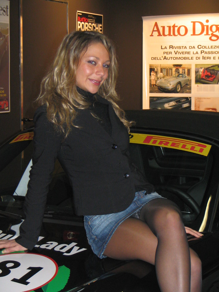 There motorshow upskirt has her