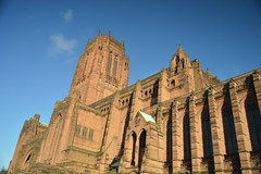 England's Biggest Cathedral (CoasterMadMatt) Tags: city uk greatbritain winter england west building english history architecture liverpool season outside religious photography 1 town exterior cathedral northwest photos unitedkingdom britain united religion great north january kingdom landmark grade structure photographs gb british biggest attraction listed merseyside liverpoolcathedral gradei cityofliverpool 2013 liverpoolanglicancathedral i january2013 coastermadmatt vision:mountain=0669 vision:outdoor=099 vision:sky=0594 englandsbiggestcathedral