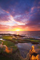 Rock Pool Sunrise (been snapping) Tags: ocean uk sea naturaleza seascape color colour beach nature water sunrise canon landscape coast scotland mar seaside day cloudy fife sigma escocia coastal 7d oceano rockpool ecosse crail eastneuk fifecoastalwalk mayisland escosia simoncameron