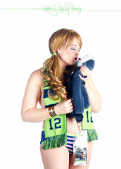Rock Candy Burlesque are 12s! Go Hawks! (olyheather) Tags: seattle portrait sexy sports sport panties studio football 7d olympia pacificnorthwest seahawks superbowl burlesque pinup 12thman 12s 2013 gohawks heatherschofner rockcandyburlesque