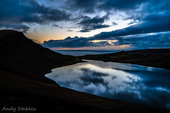Dusk at Loch Mor, Isle of Skye (Andy Stables) Tags: sunset skye canon reflections scotland glendale loch mor neist biod 70d waterstein