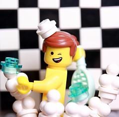 Emmet's getting ready, are you ? (Legoagogo) Tags: movie shower lego chichester moc emmet legoagogo