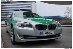 BMW 5 Series Sedan F10 - Polizei (Michal Magnin) Tags: sedan munich deutschland 5 police f10 bmw series srie polizei berline welt 80809mnchen