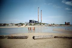, (Benedetta Falugi) Tags: blue red sea summer film beach analog 35mm sand women factory fuji superia 4 bikini 400iso 22mm eximus benedettafalugi wwwbenedettafalugicom