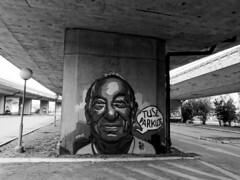 Parking area ! (TomasLudwik) Tags: street blackandwhite bw white black art lumix graffiti g5 szczecin stettin 14mm dmcg5