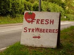 Fresh Strawberries Sign Oakington May 2014 (symonmreynolds) Tags: sign may strawberries fresh 2014 oakington