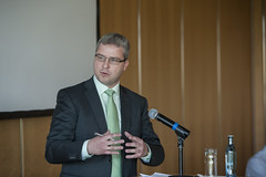 Constantin Lutz speaking at the event