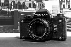 A Classic Camera in a Classic B&W (drugodragodiego) Tags: stilllife pentax lx k3 pentaxlx pentaxday pentaxm50mmf14 smcpda50135mmf28edifsdm pentaxiani smcpda35mmf28 da35mmmacro pentaxk3 pentaxday2014