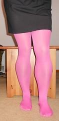 (tylerinbuff75) Tags: pink sexy legs tights crossdresser crossdress stockingfeet
