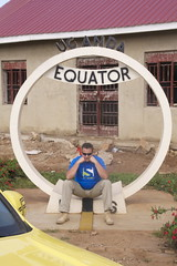 Brother Leo sitting on Equator