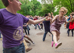 Frankie100 - Friday - Central Park Welcome Dance (Swifty) Tags: nyc centralpark swing lindyhop frankiemanning naumburgbandshell frankie100
