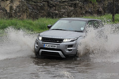 Flash flooding Wirksworth 22/3/14 (George Peck) Tags: road cars water rain puddle intense saturated traffic jeep 4x4 flood derbyshire flash rover lorry land block splash jam heavy rainfall floods dales wirksworth