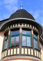 (:Linda:) Tags: window germany town thuringia turret halftimbered cloudysky themar franconianpillar