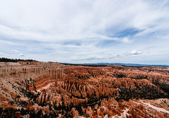 Bryce Canyon, Utah - The Catacombs and Hindu Temples, with the Amphitheatre beyond from Bryce Point (MikePScott) Tags: camera trees usa lens utah rocks unitedstates amphitheatre canyon cliffs hoodoo bryce topography fairychimney brycecanyonnationalpark tentrock brycepoint earthpyramid nikond600 nikon1424mmf28